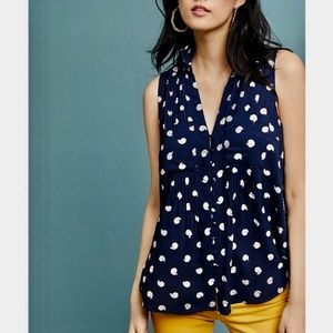 Anthropologie Tops - Anthro Conversations Snail Button Tank Top
